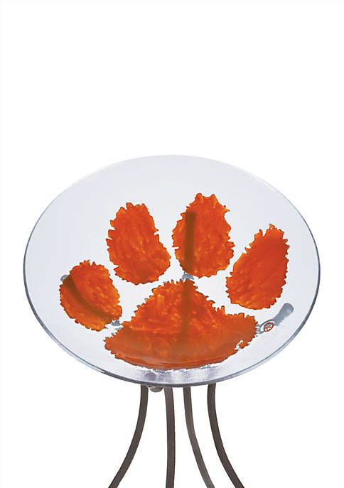 Evergreen Clemson Tigers Glass Bird Bath Online Only Belk