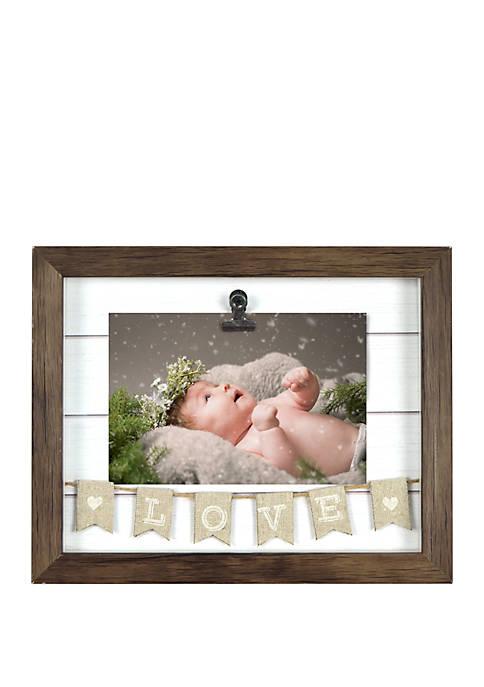Shadow Box Banner Clip Frame - Love