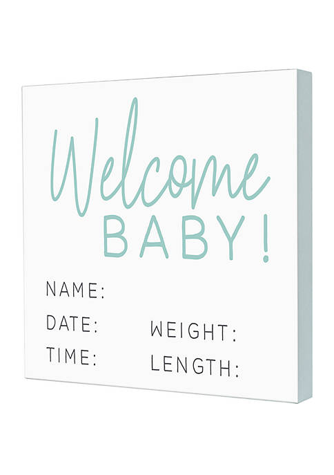Welcome Baby Box Sign