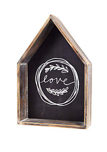 New View Love Hanging Plaque with Metal Words