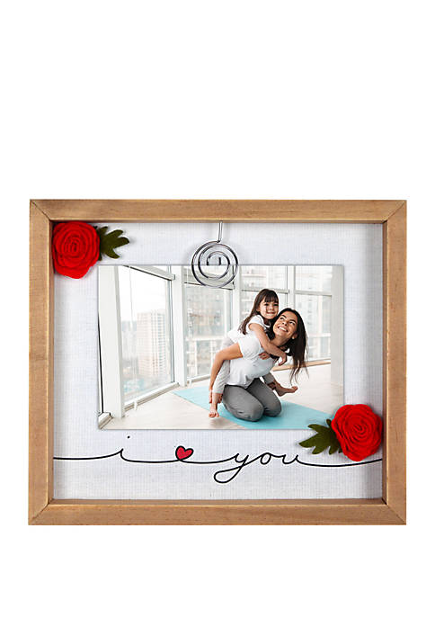 New View I Love You Felt Clip Frame