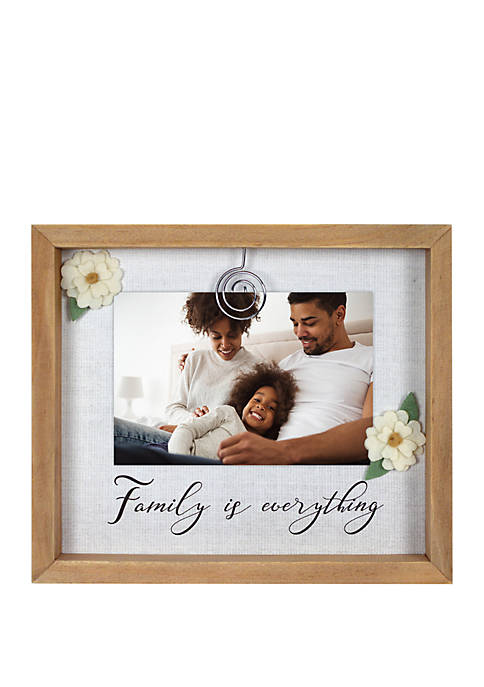 Family Is Everything Felt Clip Frame