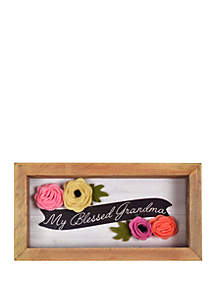 New View Blessed Grandma Embroidered Clever Caption Frame