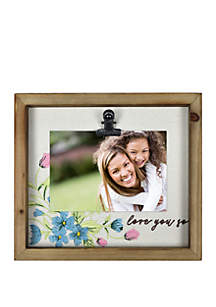 New View Love You So Embroidered Frame