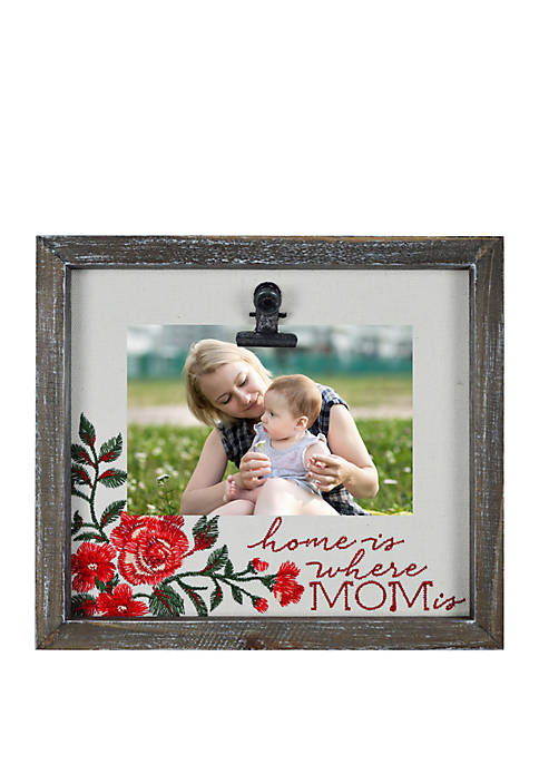 New View Home Is Where Mom Is Embroidered