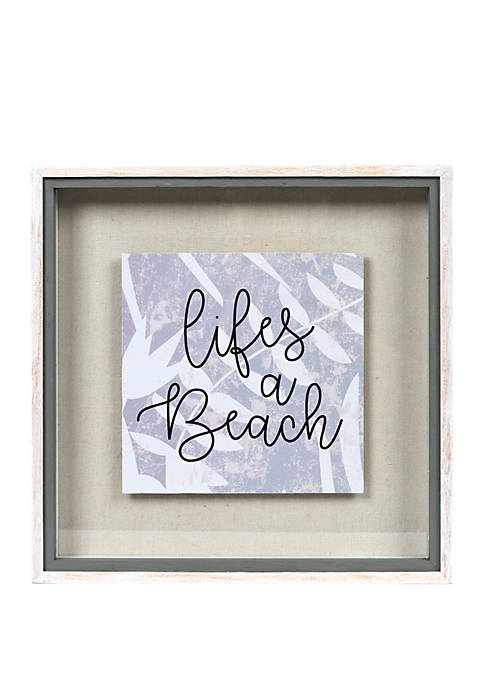 Reverse Box with Glass- Lifes A Beach