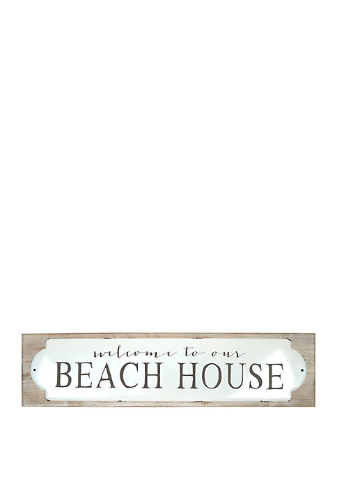 Beach House Metal Sign
