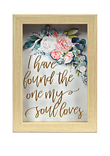 New View I Have Found The One My Soul Loves Embroidered Wall Art