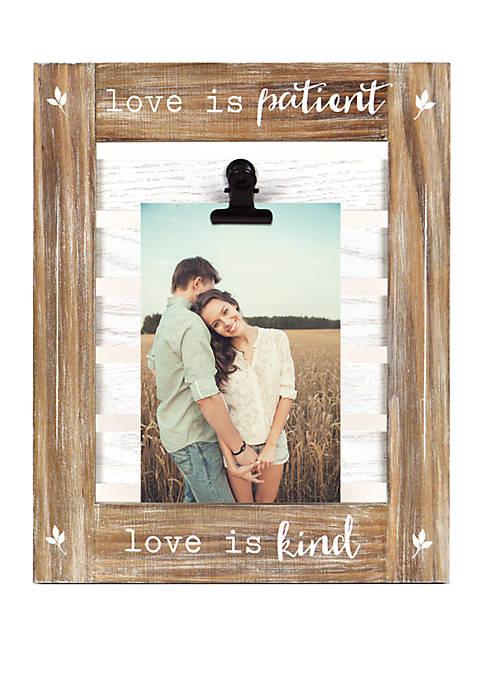 Love Is Patient Clip Frame
