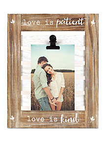 New View Love Is Patient Clip Frame