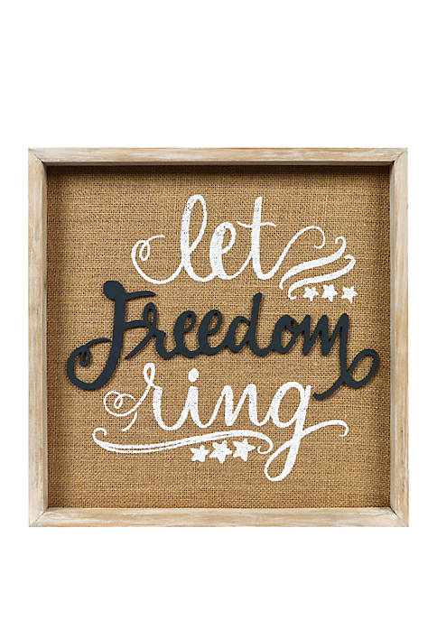Let Freedom Ring Wall Sign
