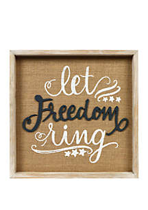 New View Let Freedom Ring Wall Sign