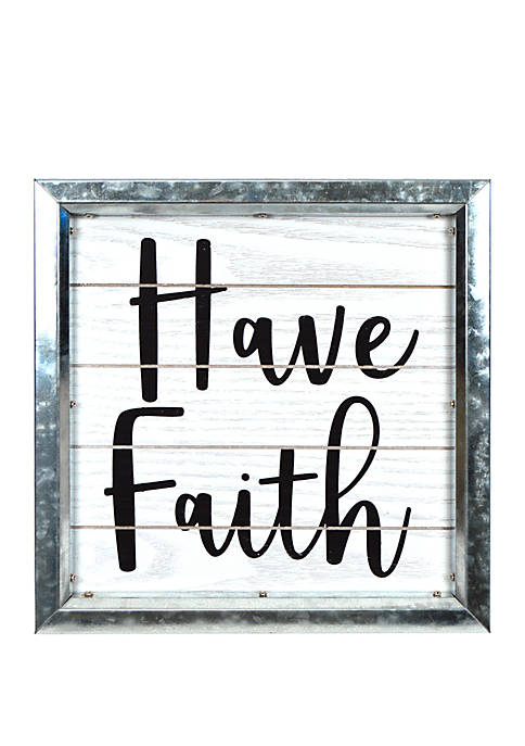 Have Faith Boxed Metal Wall Art