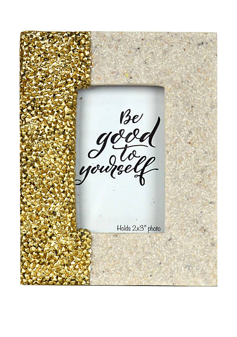 Mini Resin Frame- Gold Beads