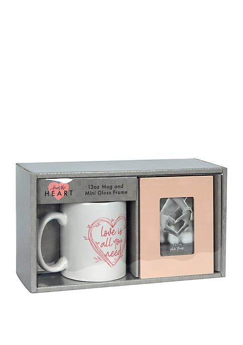 Boxed Gift Set – 13 Ounce Mug and Mini Frame