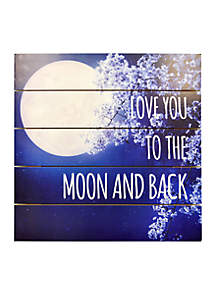 Love You To The Moon Printed Paper Plank
