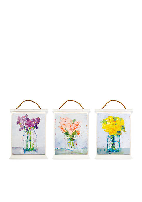 New View Floral Tapestry Set of 3