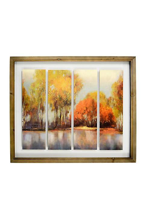 Fall Landscape Shadowbox 4 Tiles