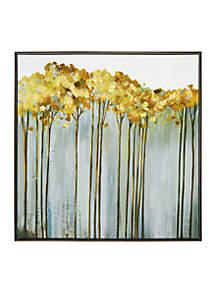 Golden Birch Framed Embellished Foil Canvas