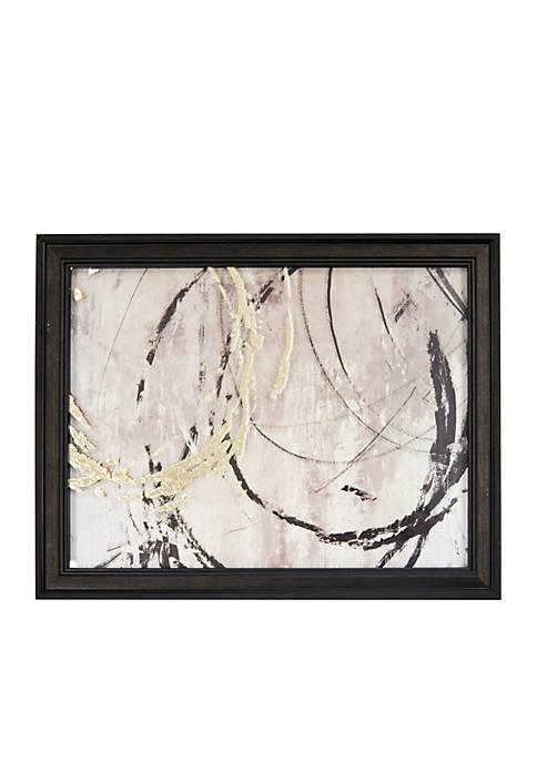 New View Open Circles Metallic Printed Glass Wall