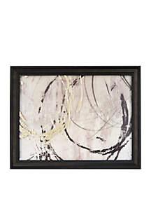 Open Circles Metallic Printed Glass Wall Art
