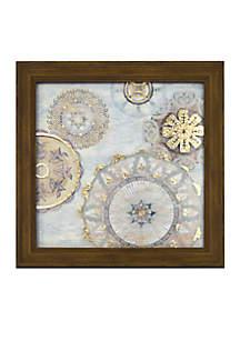 Moraccan Breeze Metallic Printed Glass
