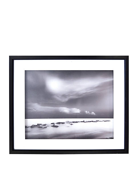 New View Black and White Tide Shadowbox