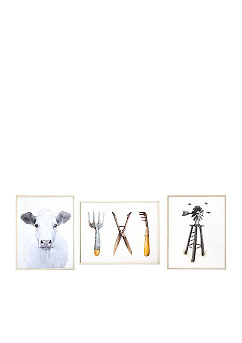 Windmill Garden Tools Cow Flushmount Set
