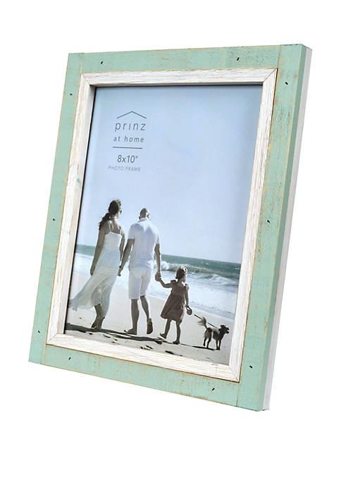 Shoreline Green and White Frame- 8x10