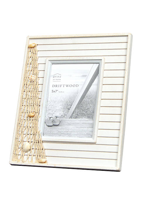 New View Fishing Net Driftwood Novelty Frame