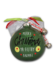3.5-in. 'Merry Christmas Ya Filthy Animal' Ornament