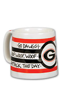 Georgia Bulldogs Striped Mug