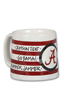 Magnolia Lane Alabama Crimson Tide Stripe Mug