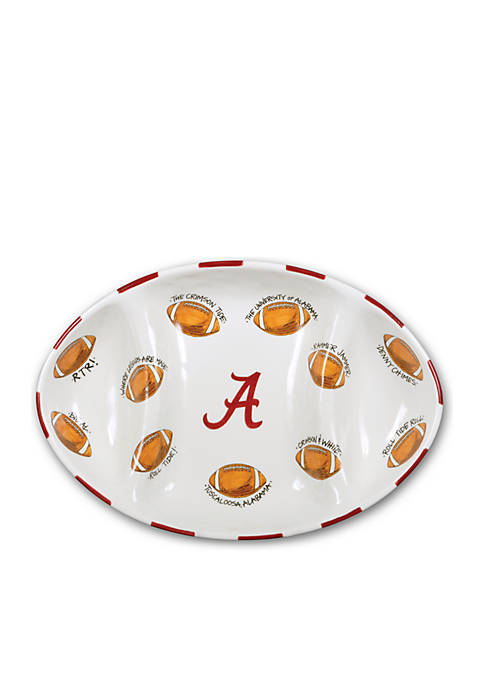 Magnolia Lane Alabama Crimson Tide Football Platter