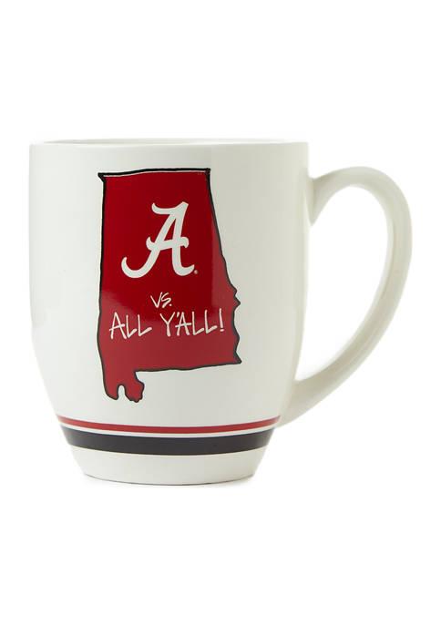 Magnolia Lane NCAA Alabama Crimson Tide State Outline