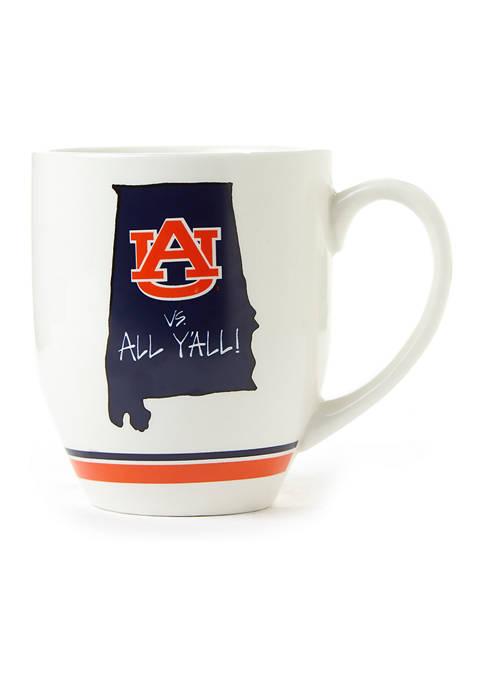 Magnolia Lane NCAA Auburn Tigers State Outline Coffee