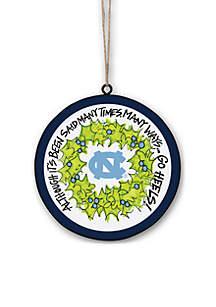UNC Tar Heels Metal Ornament
