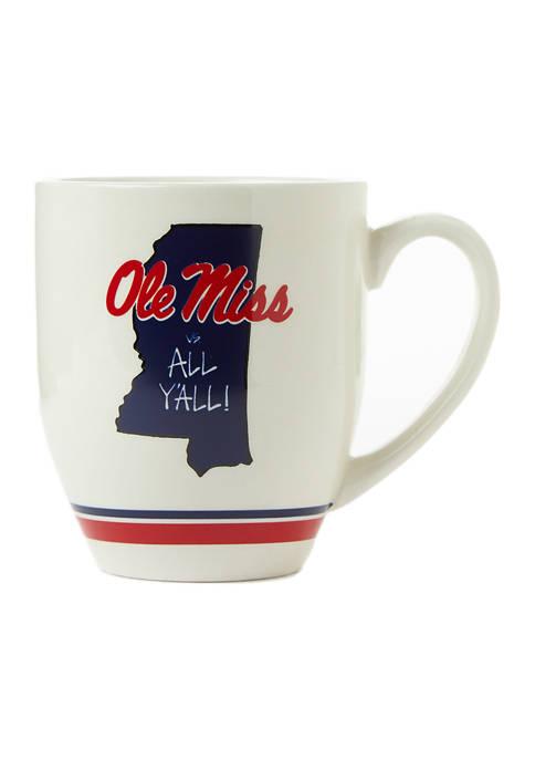 Magnolia Lane NCAA Ole Miss Rebels State Outline