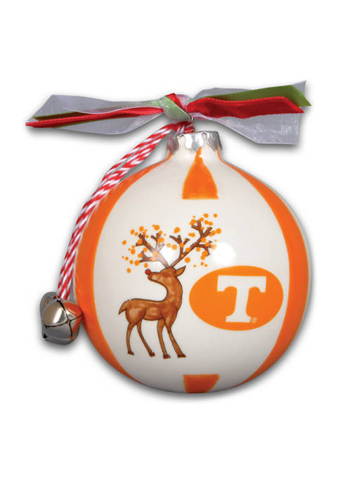 Magnolia Lane NCAA Tennessee Volunteers Reindeer Stripe Ornament