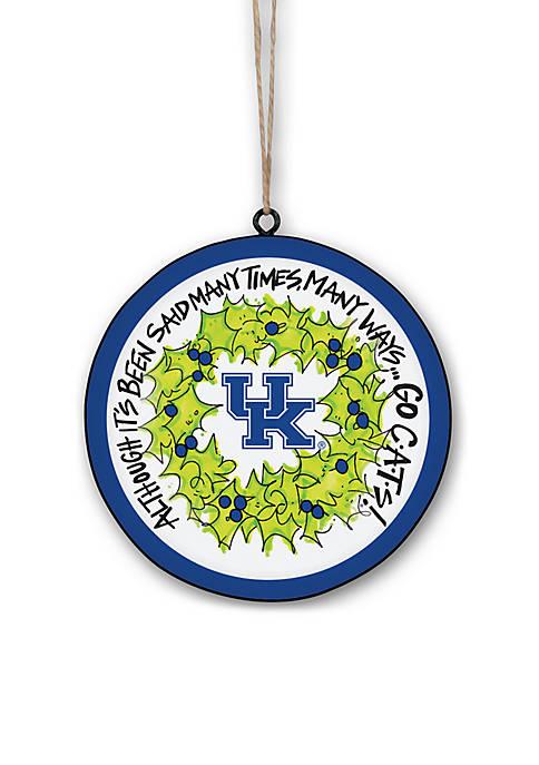 Magnolia Lane Kentucky Wildcats Metal Ornament