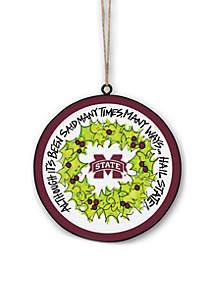 Mississippi State Bulldogs Metal Ornament