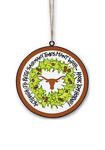 Texas Longhorns Metal Ornament