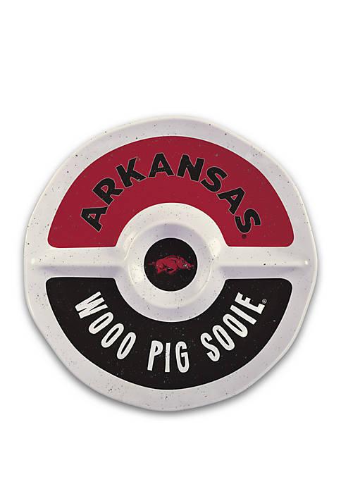 Arkansas Razorbacks Heavyweight Melamine Chip and Dip Platter