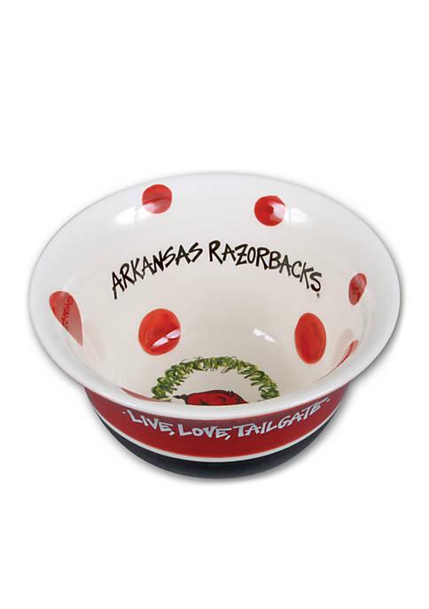 Magnolia Lane Arkansas Razorbacks Assorted Bowls