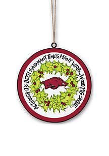 Arkansas Razorbacks Metal Ornament