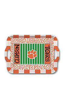 Clemson Tigers Melamine Tray with Handles