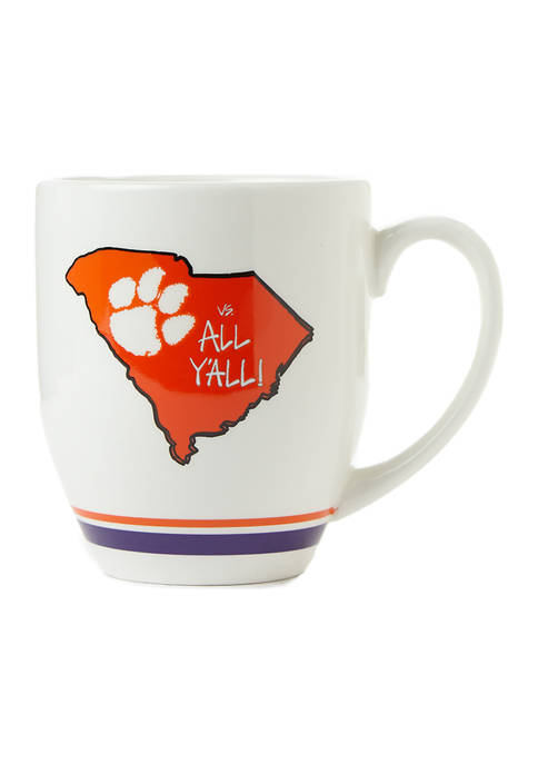 Magnolia Lane NCAA Clemson Tigers State Outline Mug