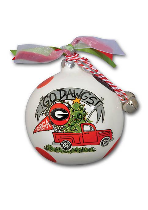 Magnolia Lane Georgia Bulldogs Pickup Truck Ornament