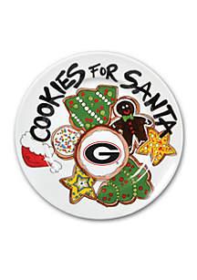 Georgia Bulldogs Cookies for Santa Plate