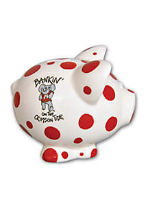 Alabama Crimson Tide Ceramic Piggy Bank